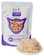 Brit Care Cat Pouch Chicken & Cheese Kitten - Mokra karma dla kociąt (Kurczak + Ser) saszetka 80g