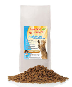 Power of Nature Active Cat Cookie's Choice - Sucha karma dla kota (Kurczak + Brązowy Ryż) 2kg