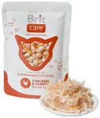 Brit Care Cat Pouch Chicken & Cheese - Mokra karma dla kota (Kurczak + Ser) saszetka 80g