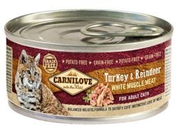 Carnilove Cat Adult Turkey & Reindeer (Indyk + Renifer), puszka 100g