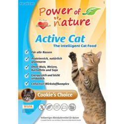 Power of Nature Active Cat Cookie's Choice - Sucha karma dla kota (Kurczak + Brązowy Ryż) 6kg