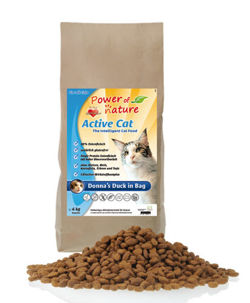 Power of Nature Active Cat Donnas Duck - Sucha karma dla kota (Kaczka) 2kg