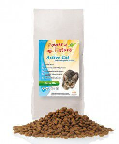 Power of Nature Active Cat Farm Mix - Sucha karma dla kota (Kurczak + Łosoś + Jagnięcina + Brązowy Ryż) 2kg