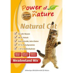 Power of Nature Natural Cat Meadowland Mix - Sucha karma dla kota (Kurczak + Indyk + Łosoś) 7.5kg