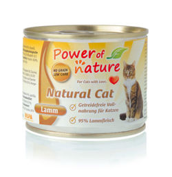 Power of Nature Natural Cat - Mokra karma dla kota (Jagnięcina), puszka 200g