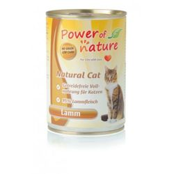 Power of Nature Natural Cat - Mokra karma dla kota (Jagnięcina), puszka 400g