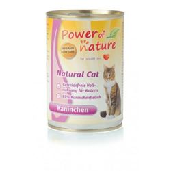 Power of Nature Natural Cat - Mokra karma dla kota (Królik), puszka 400g