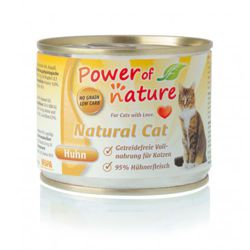 Power of Nature Natural Cat - Mokra karma dla kota (Kurczak) - puszka 200g
