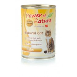 Power of Nature Natural Cat - Mokra karma dla kota (Kurczak) - puszka 400g