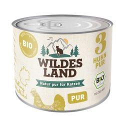 Wildes Land Cat Bio Nr 3 (Kurczak PUR) 200g